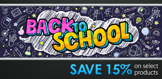 Save 15% OFF with Back To School Savings! BTS15!