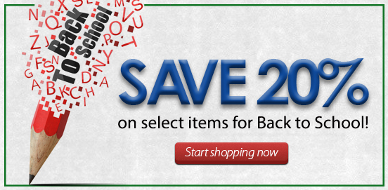 Sale extended! Save 20% OFF with Back To School Savings! BTS20!