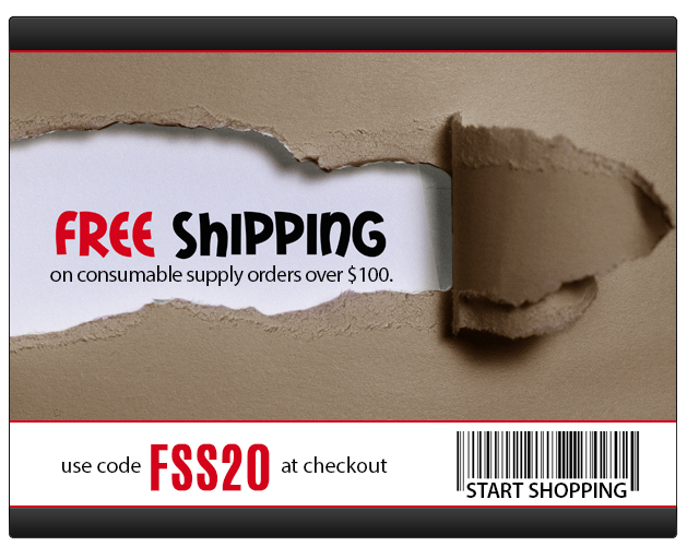 Free Ground Shipping on Supply Orders of  $100 or More!  Some Exclusions apply. Offer Ends 09/23/2020