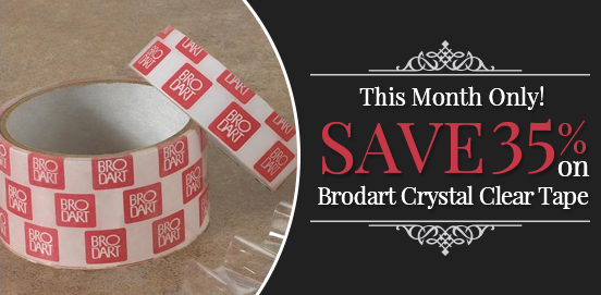 Save 35% on Brodart Crystal Clear Tape!   Offer Ends 10/31/2017