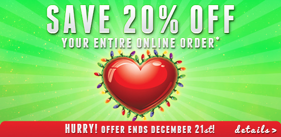Save 20% OFF Entire Order with WEBLUV 20% OFF!