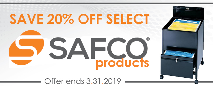 Save 20% OFF Safco Sale; Ends March 31, 2019!