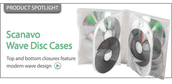 Scanavo Wave Disc Cases With Overlap Design!