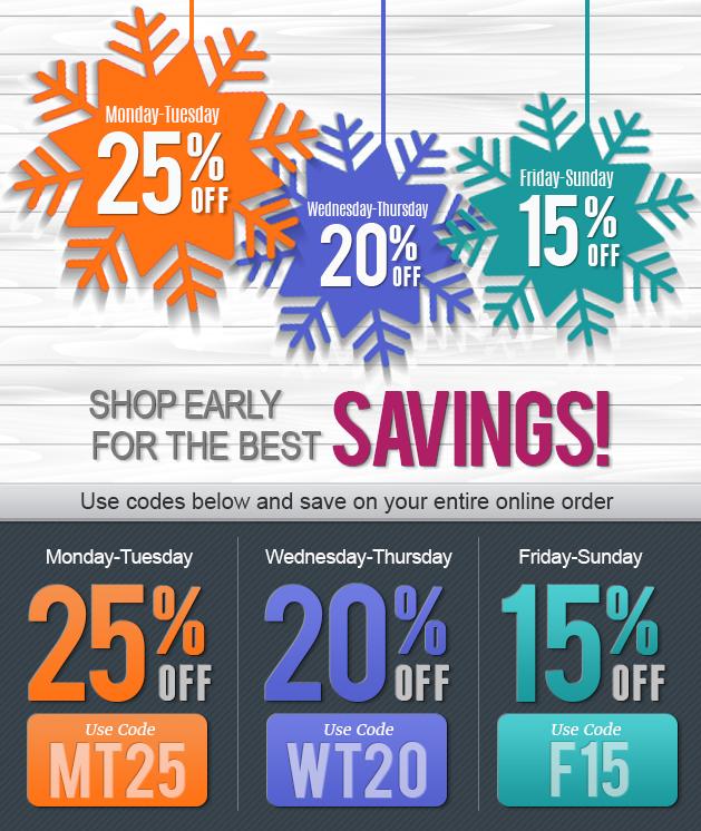Shop Early Save More Savings Week!