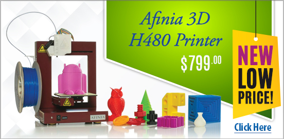 Afinia 3D H480 Printer New Low Price!