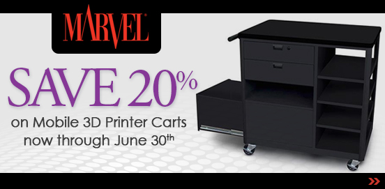 Save on Marvel Mobile 3D Printer Carts through June