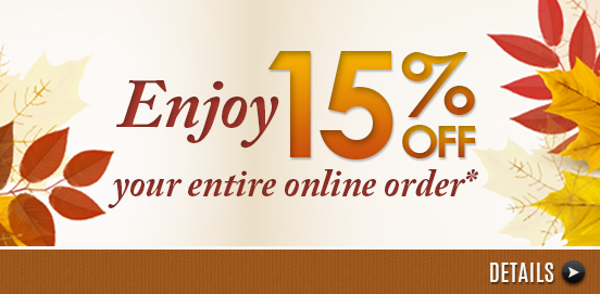 Sale Extended! Save 15% on Everything!   Offer Ends 10/02/2016