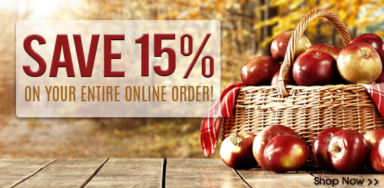 Save 15% on Everything!   Offer Ends 10/18/2020