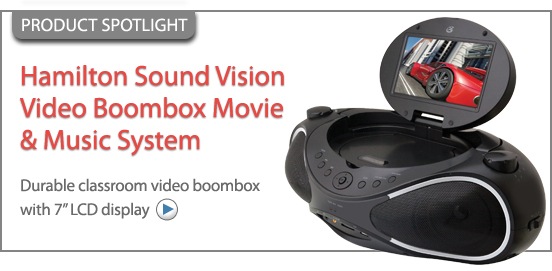 Hamilton Sound Vision Video Boombox Movie And Music System