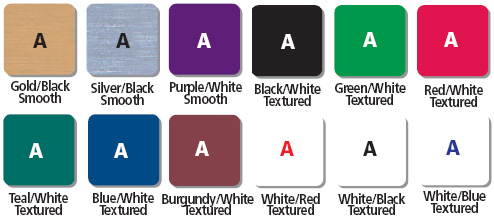 Single Sided Sign Colors