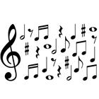 Image of Brodart Musical Notes Vinyl Wall Art