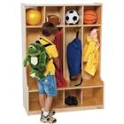 Image of Wood Designs™ Four-Section Seat Locker