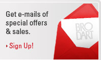 Get e-mails of special offers & sales. Sign Up!
